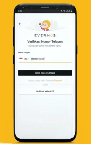 Verifikasi Aplikasi Evermos