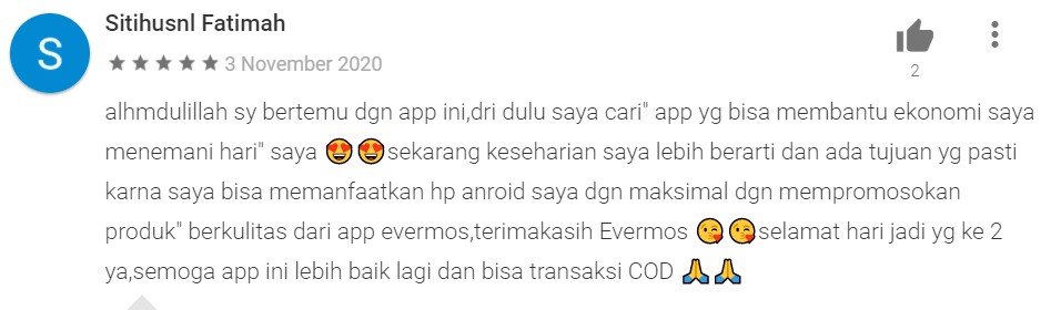 testimoni jualan di Evermos