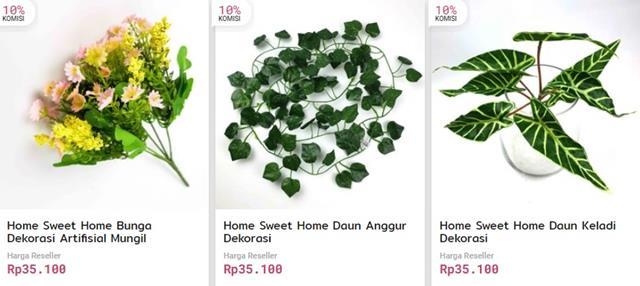 produk dekorasi bunga